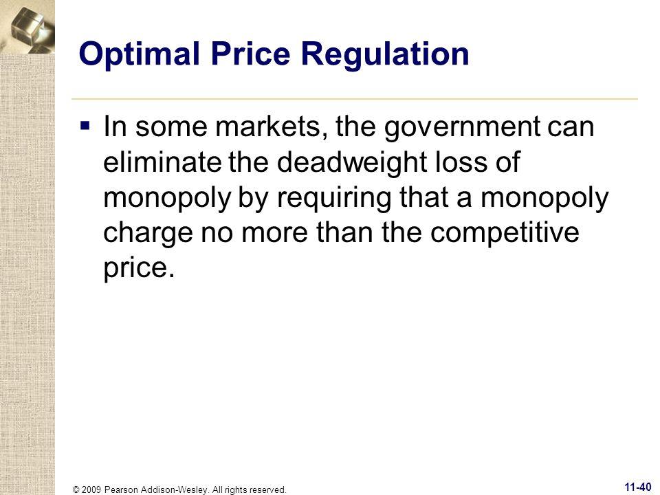 Optimal Price Regulation