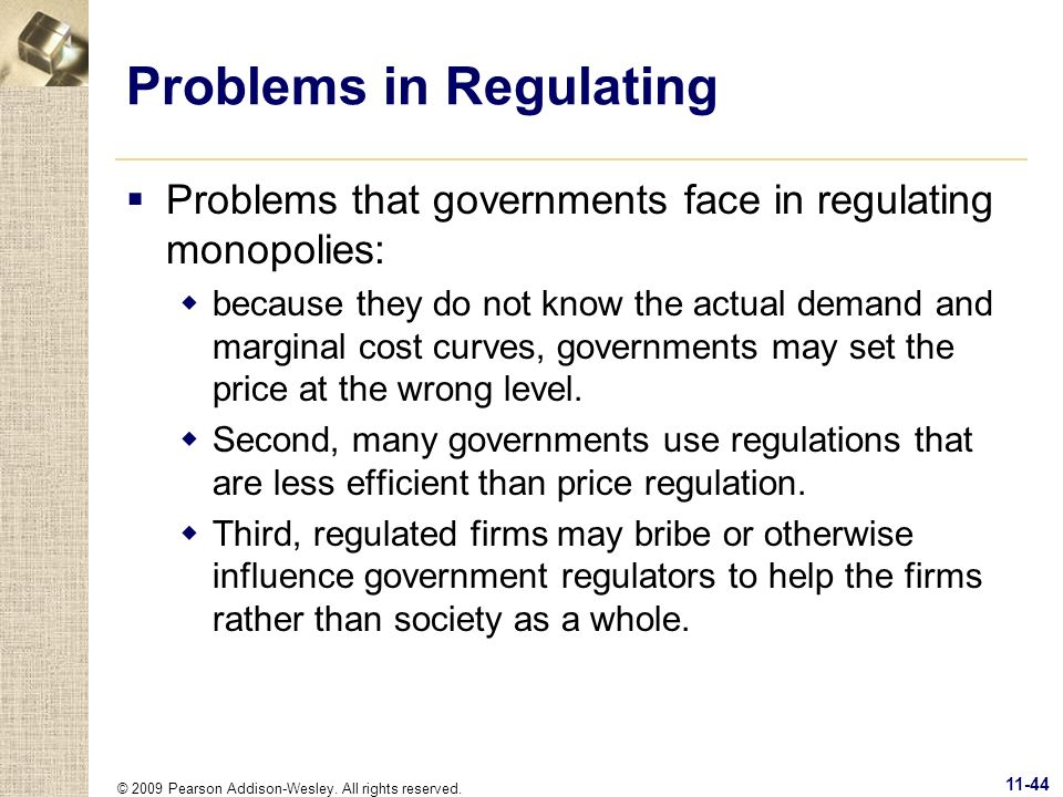 Problems in Regulating