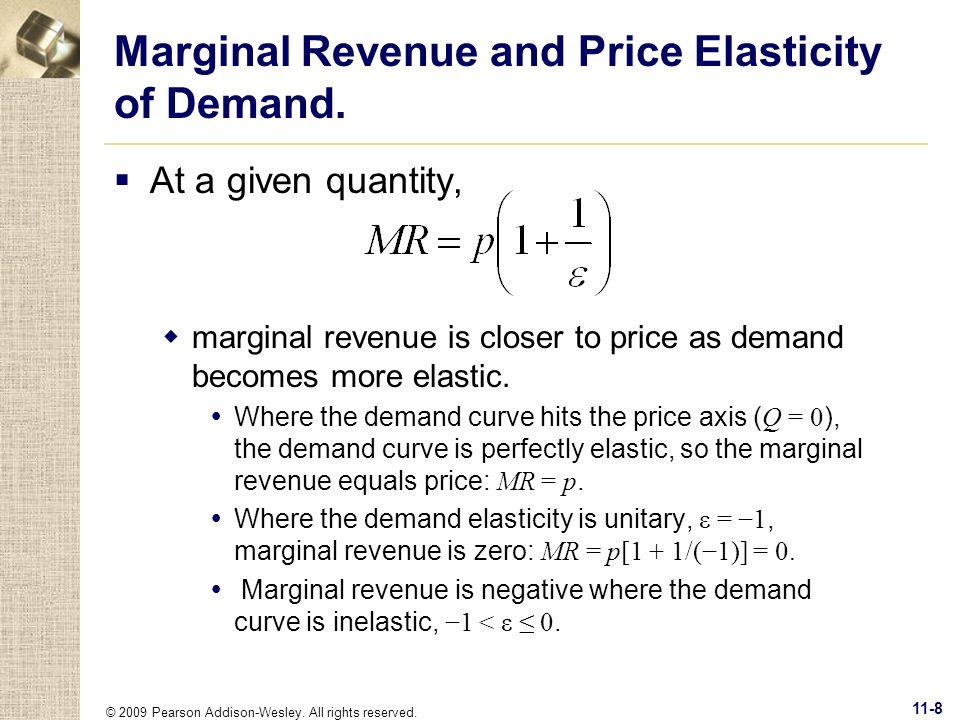 Marginal Revenue and Price Elasticity of Demand.