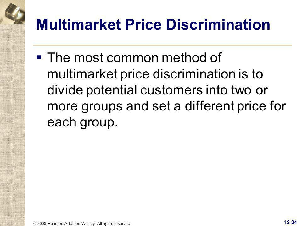 Multimarket Price Discrimination