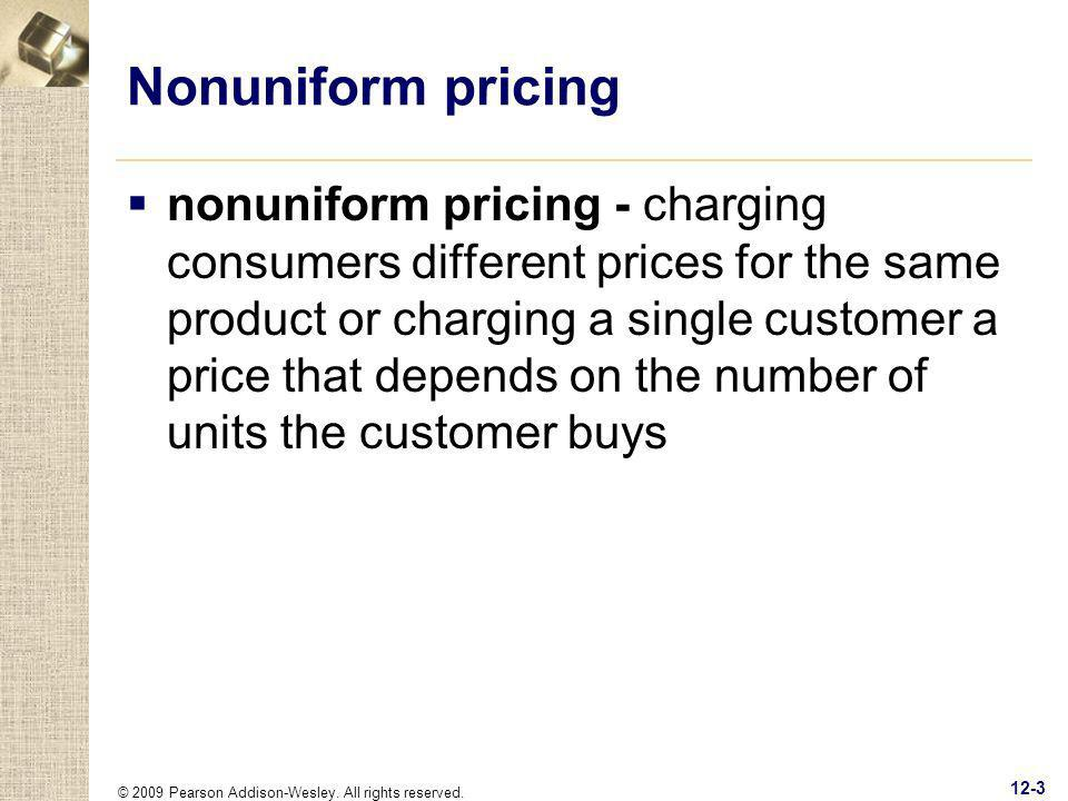 Nonuniform pricing