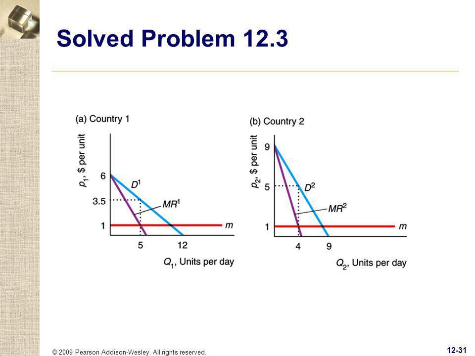Solved Problem 12.3 © 2009 Pearson Addison-Wesley. All rights reserved.