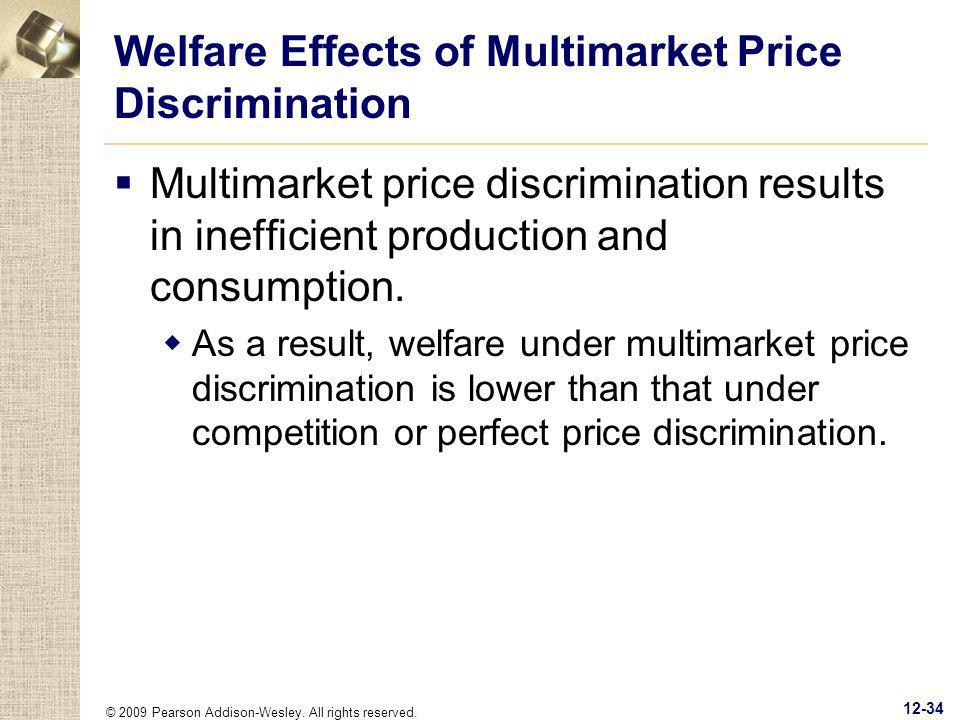 Welfare Effects of Multimarket Price Discrimination