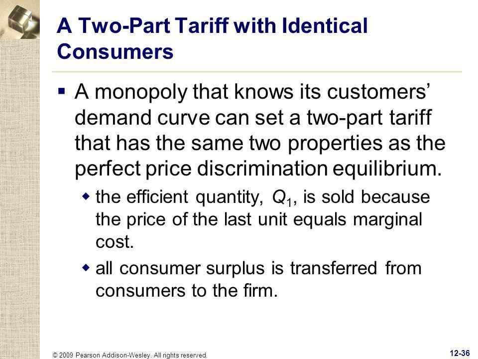 A Two-Part Tariff with Identical Consumers