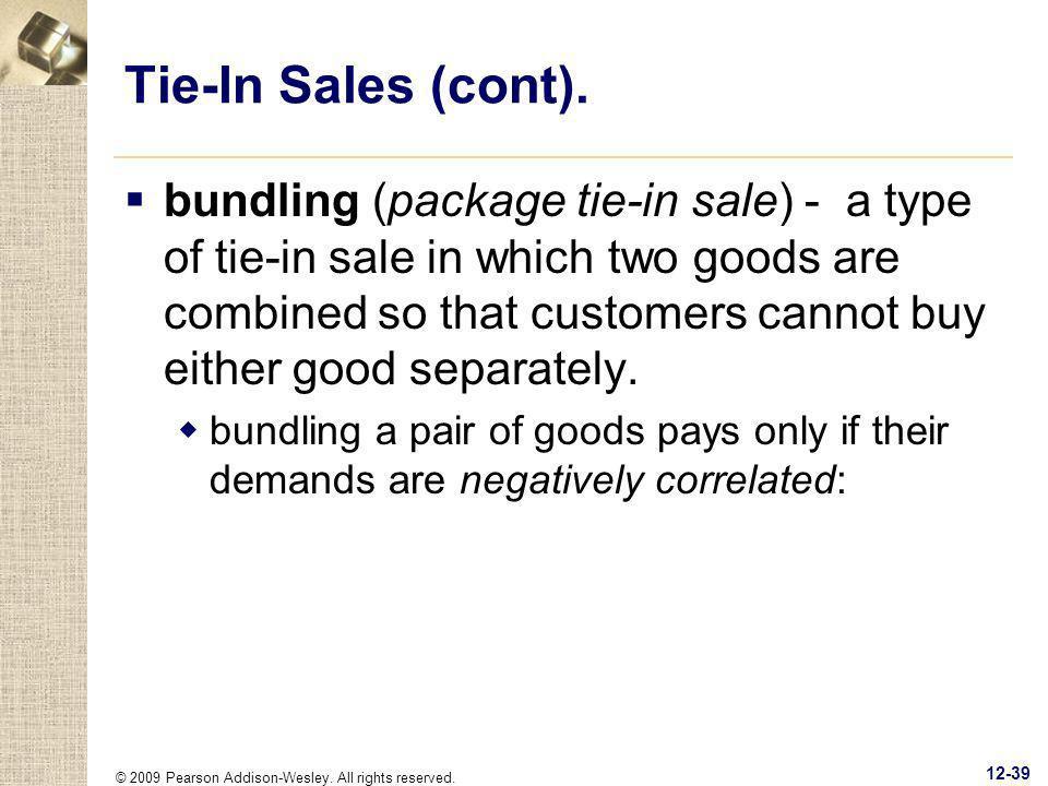 Tie-In Sales (cont).