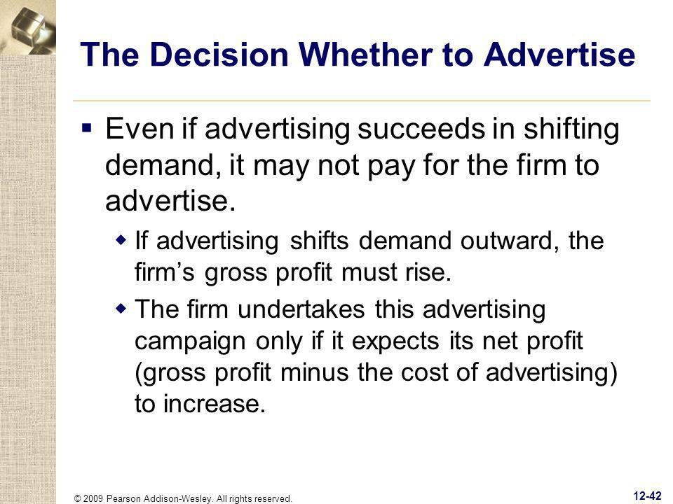 The Decision Whether to Advertise