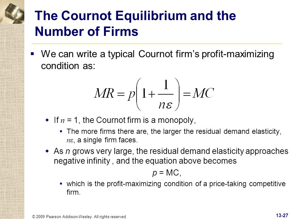 The Cournot Equilibrium and the Number of Firms