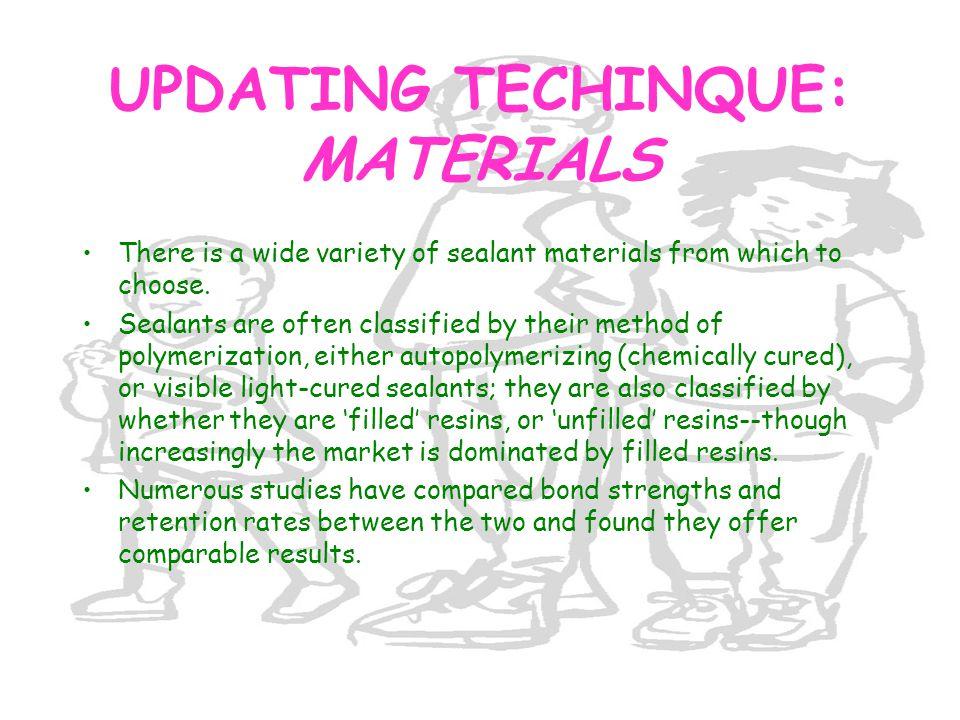UPDATING TECHINQUE: MATERIALS
