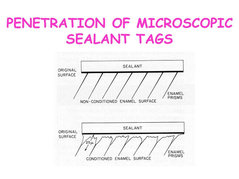 PENETRATION OF MICROSCOPIC SEALANT TAGS