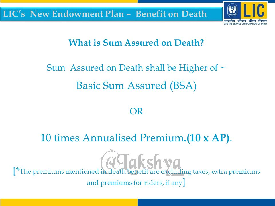 What is Sum Assured on Death