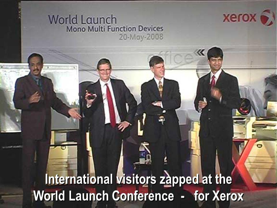 International visitors zapped at the World Launch Conference - for Xerox