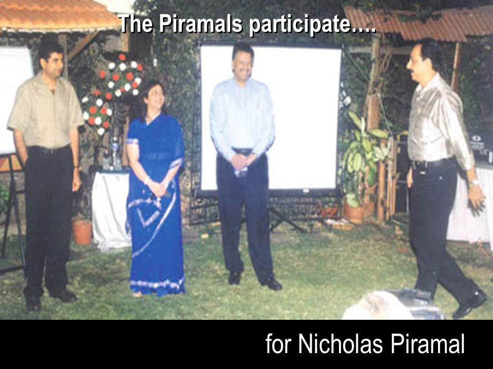 The Piramals participate….