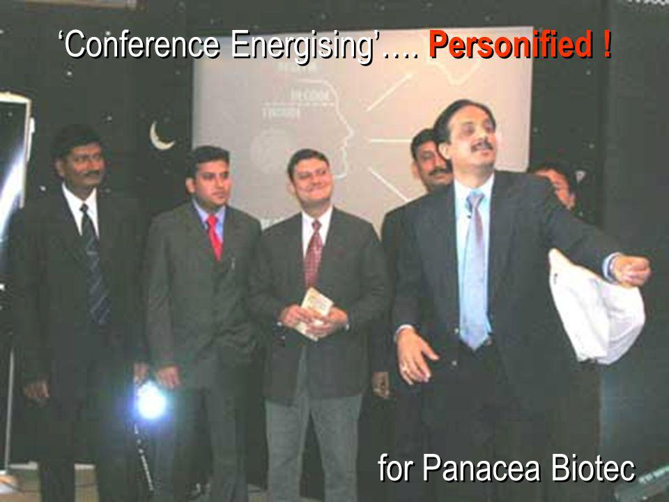 'Conference Energising'…. Personified !