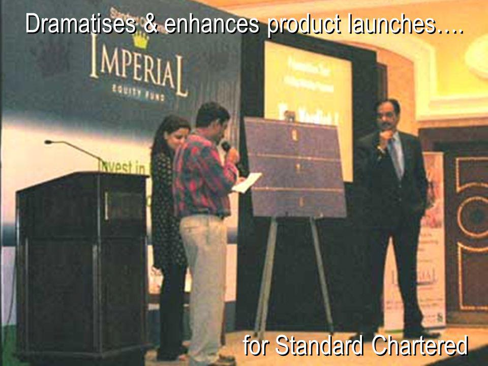 Dramatises & enhances product launches….