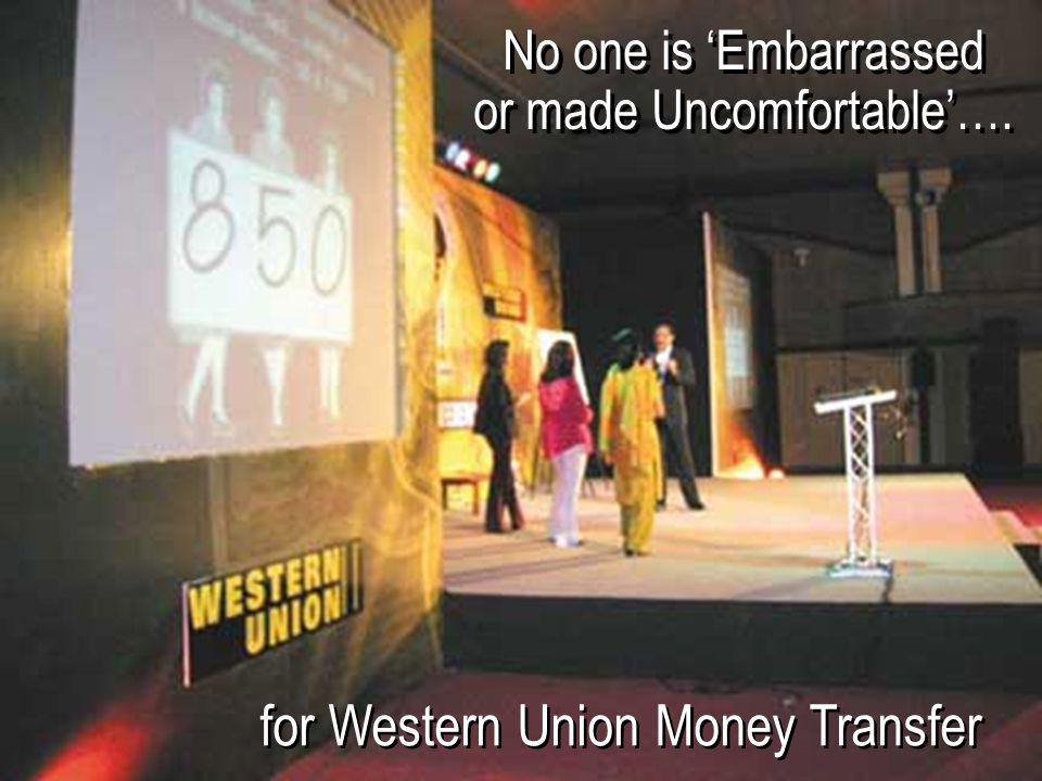 for Western Union Money Transfer