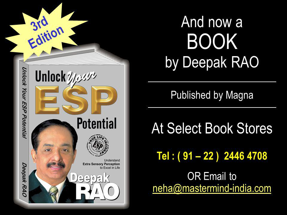 And now a BOOK by Deepak RAO