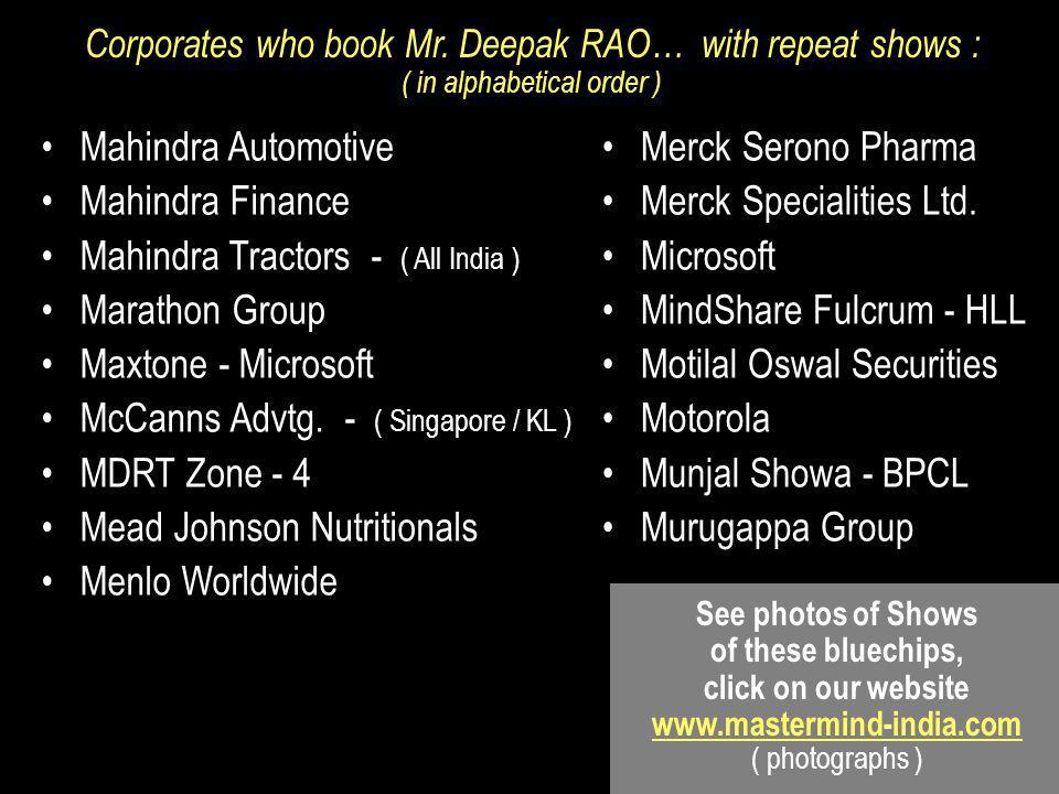 Mahindra Tractors - ( All India ) Marathon Group Maxtone - Microsoft