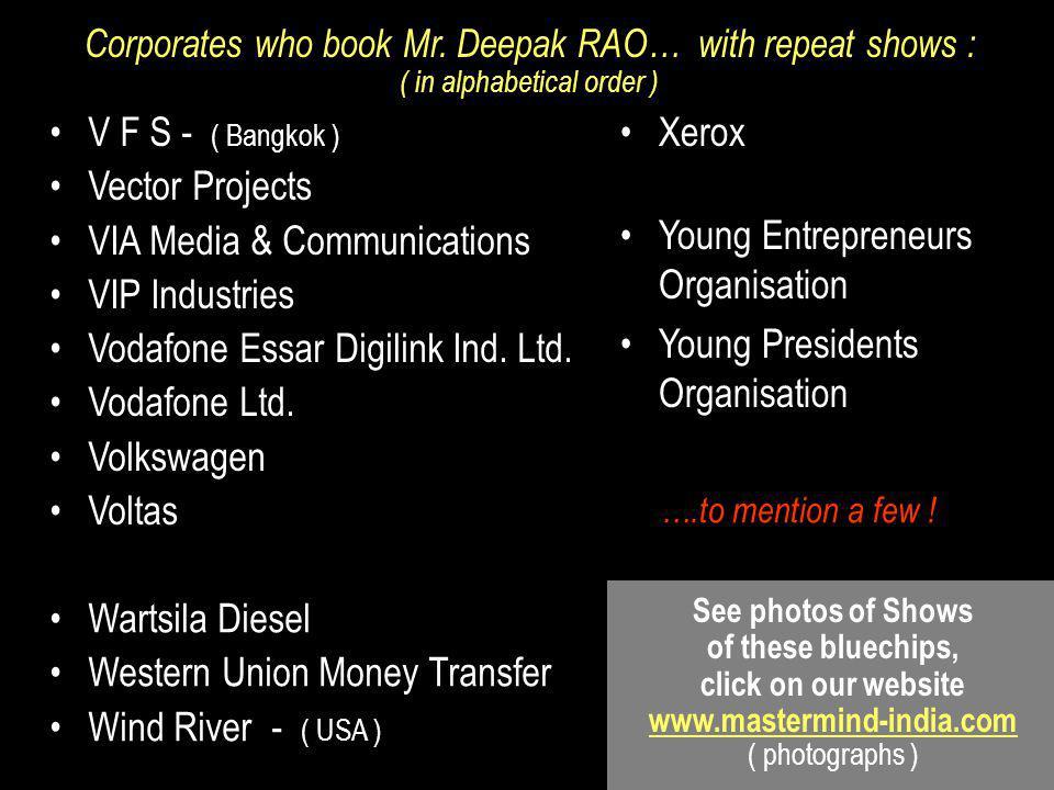 VIA Media & Communications VIP Industries