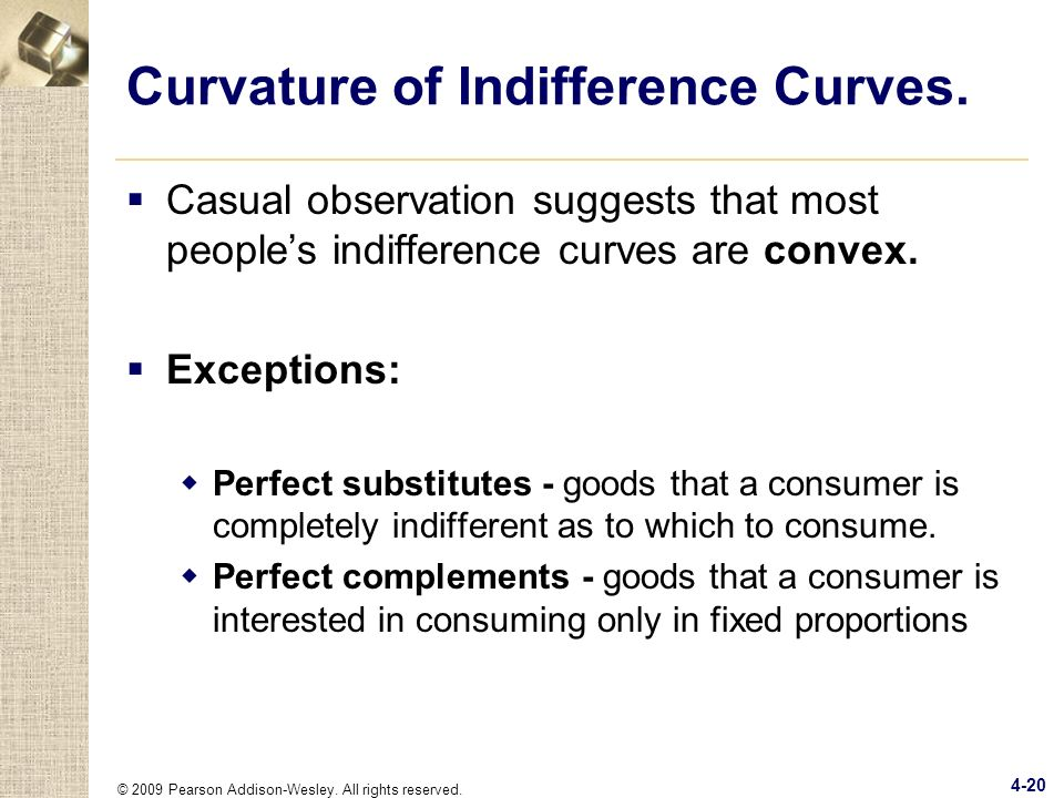 Curvature of Indifference Curves.