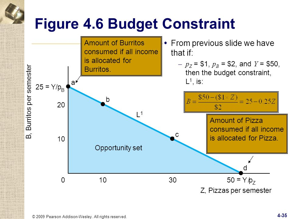 Figure 4.6 Budget Constraint