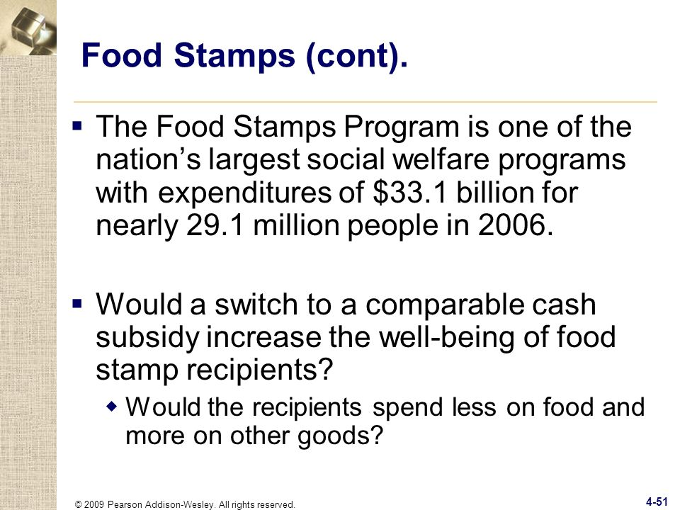 Food Stamps (cont).
