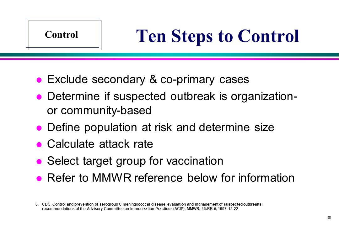 Ten Steps to Control Exclude secondary & co-primary cases