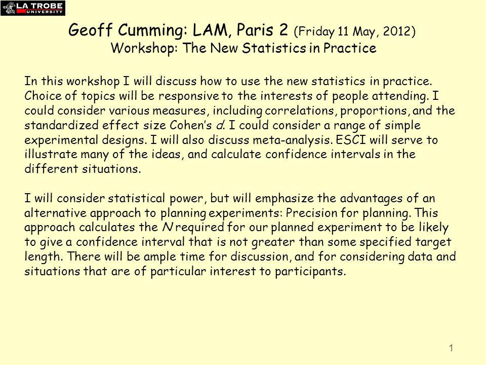 Geoff Cumming: LAM, Paris 2 (Friday 11 May, 2012)