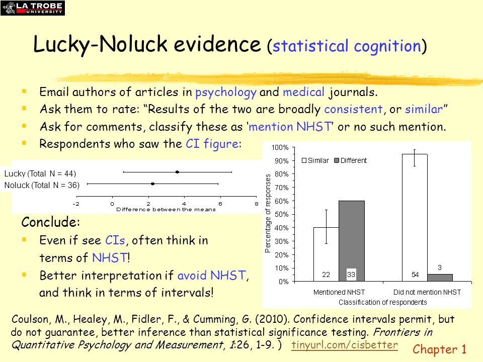 Lucky-Noluck evidence (statistical cognition)