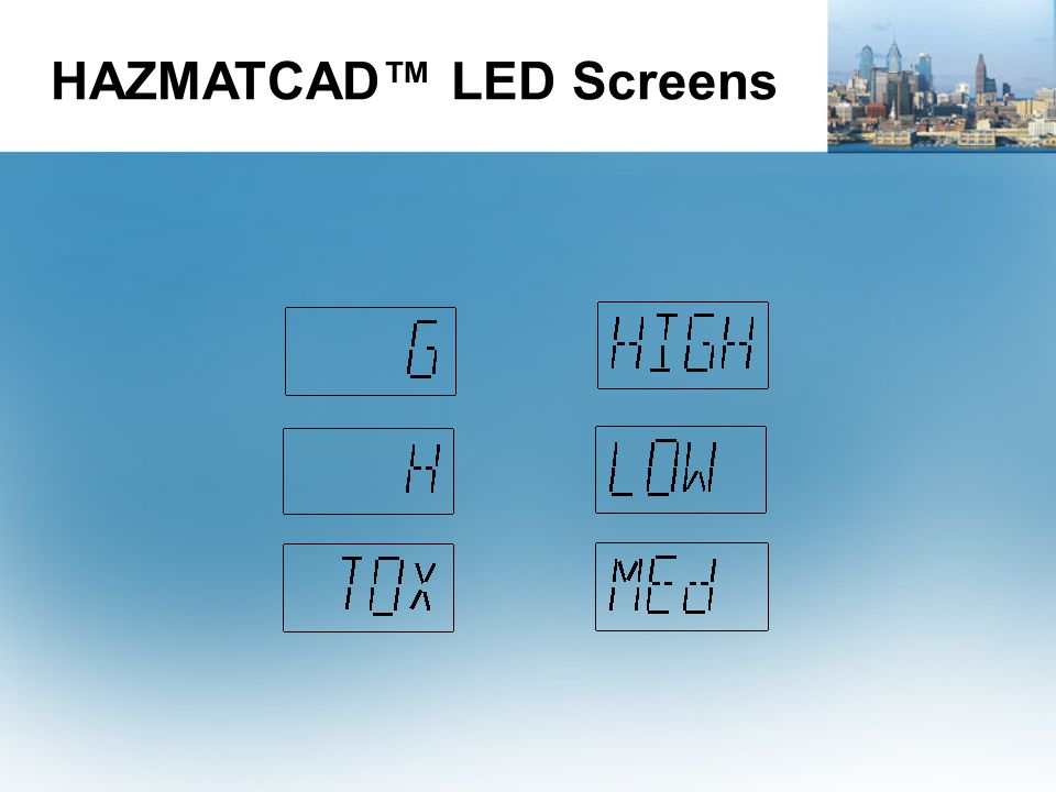 HAZMATCAD™ LED Screens