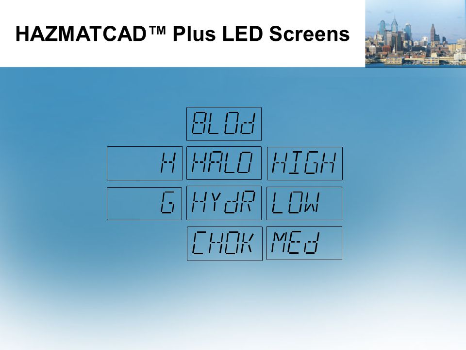 HAZMATCAD™ Plus LED Screens