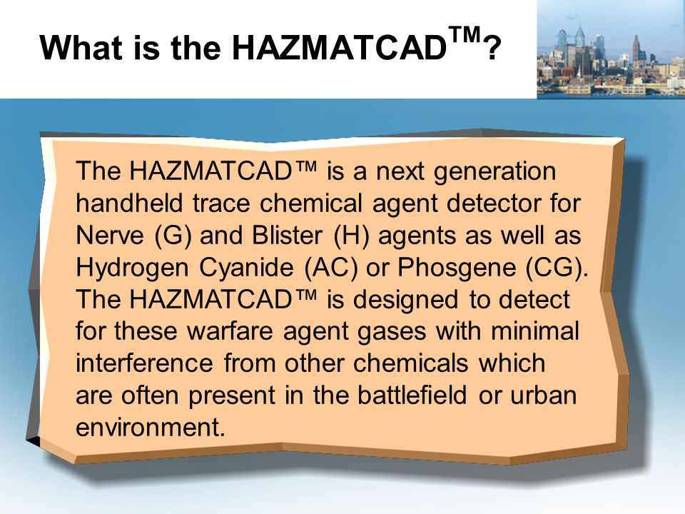 What is the HAZMATCADTM