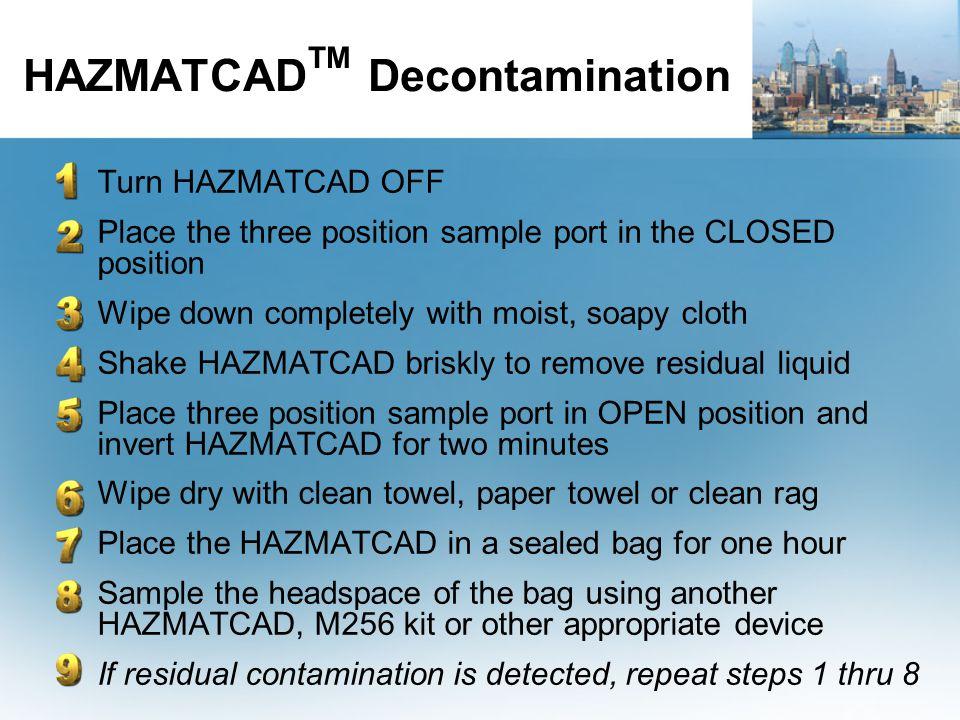 HAZMATCADTM Decontamination