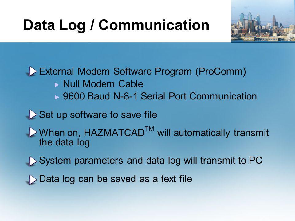 Data Log / Communication