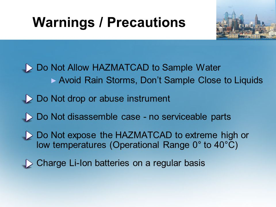 Warnings / Precautions