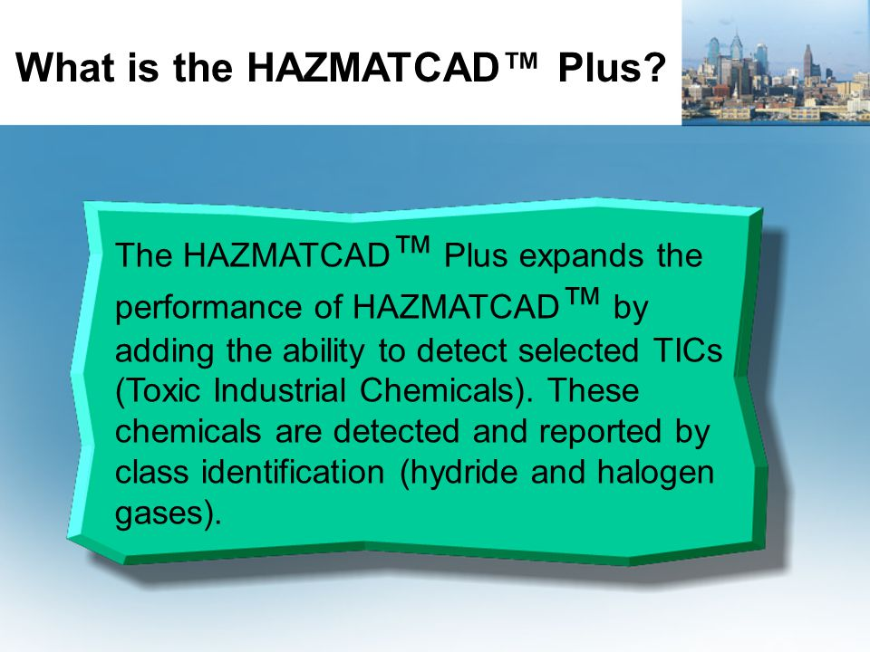 What is the HAZMATCAD™ Plus