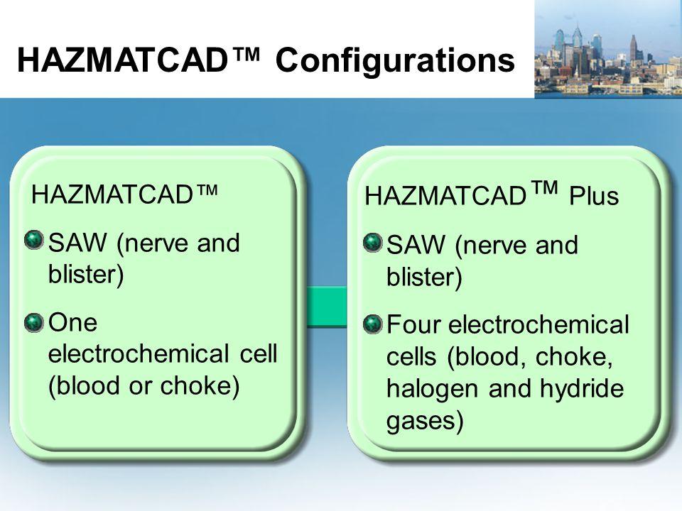 HAZMATCAD™ Configurations