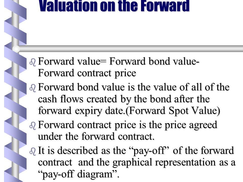 Valuation on the Forward