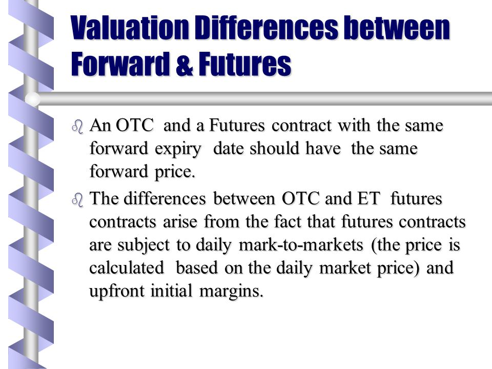 Valuation Differences between Forward & Futures