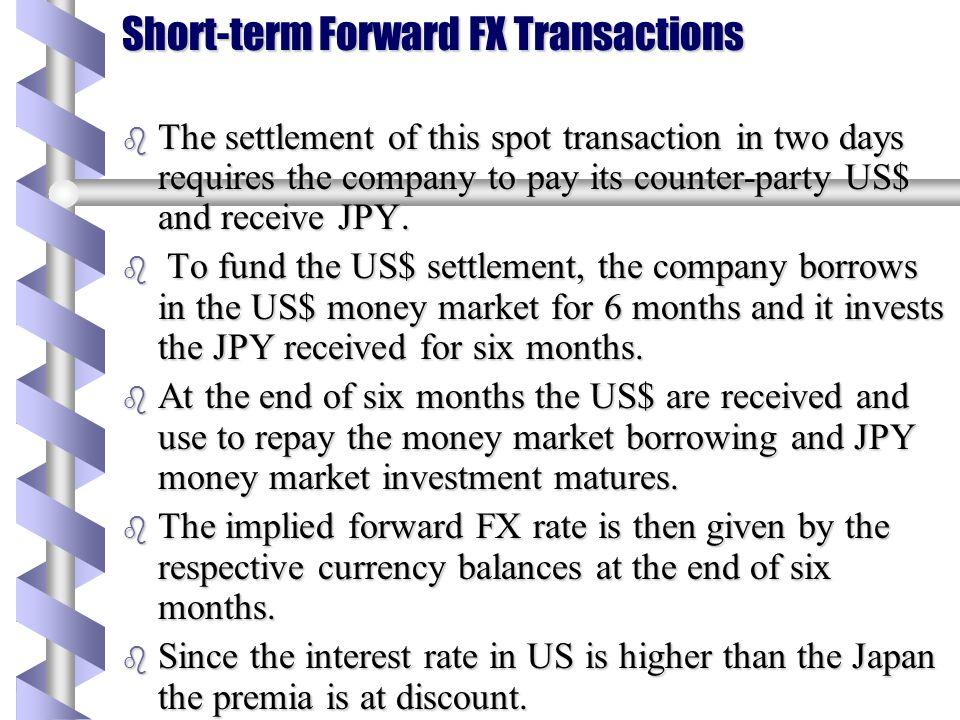 Short-term Forward FX Transactions