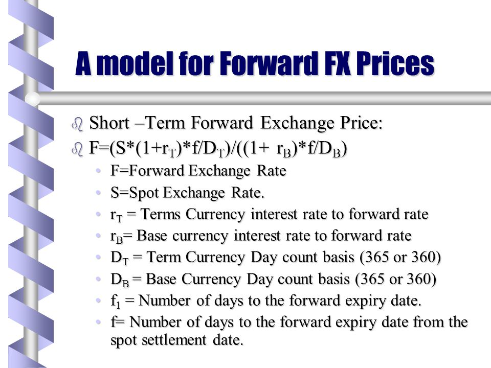 A model for Forward FX Prices