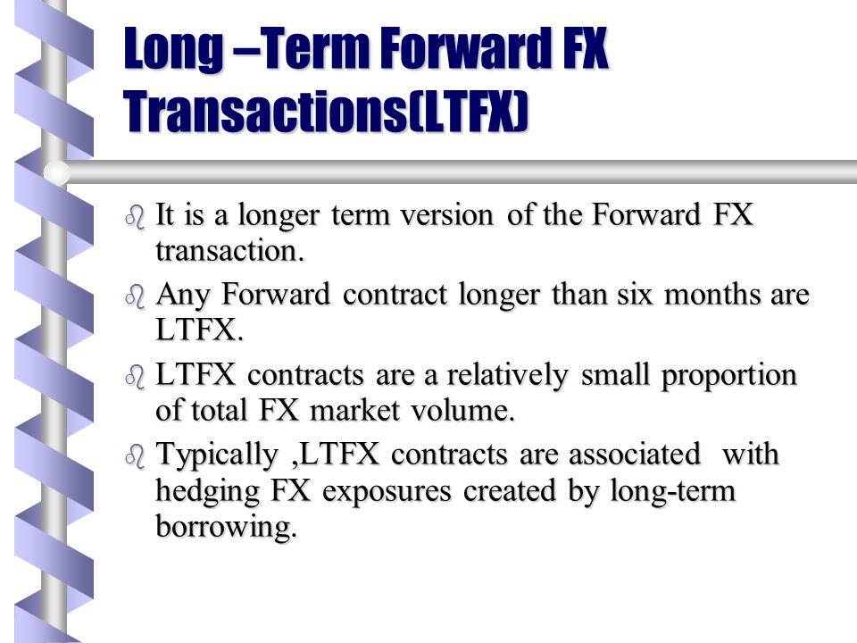 Long –Term Forward FX Transactions(LTFX)