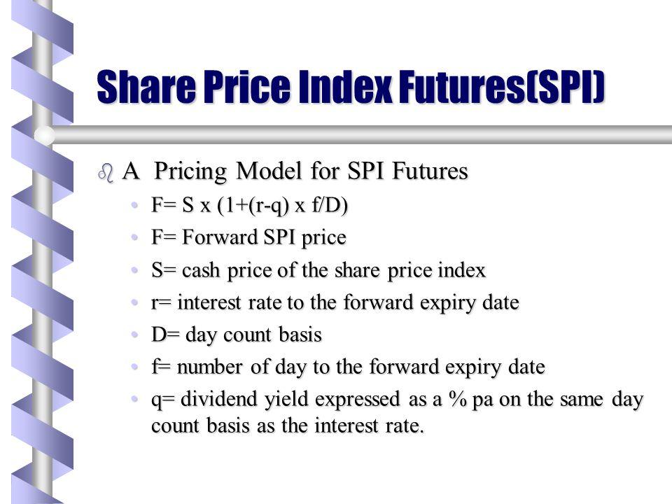 Share Price Index Futures(SPI)