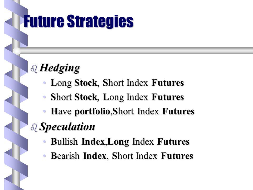 Future Strategies Hedging Speculation Long Stock, Short Index Futures