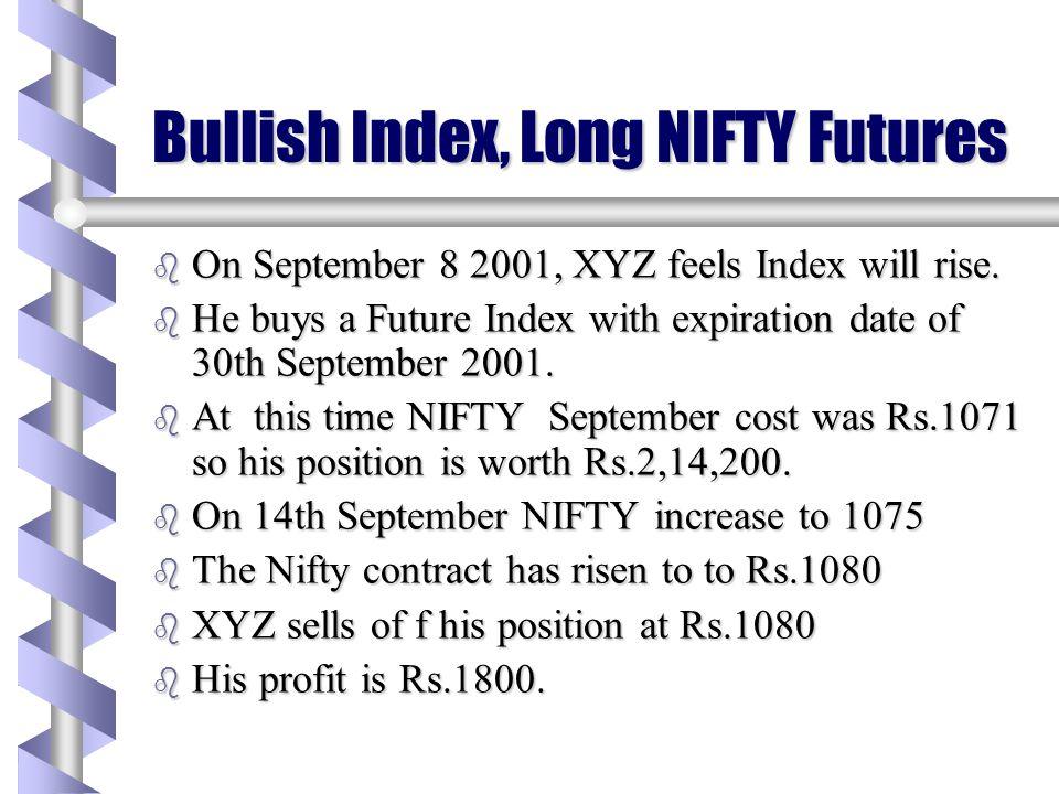 Bullish Index, Long NIFTY Futures