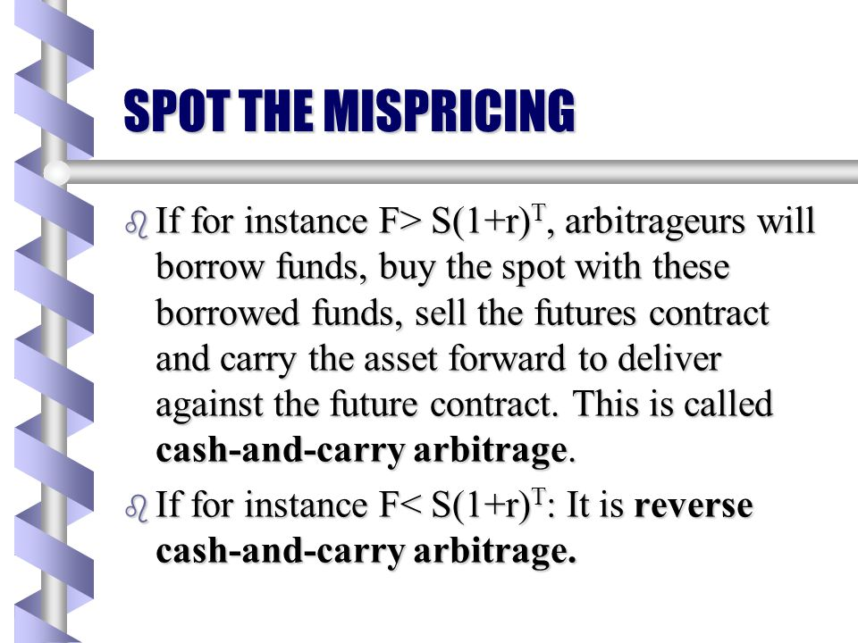 SPOT THE MISPRICING