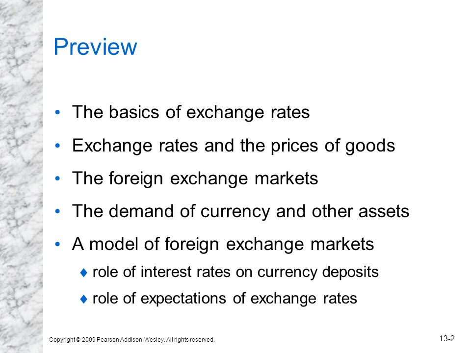 Preview The basics of exchange rates