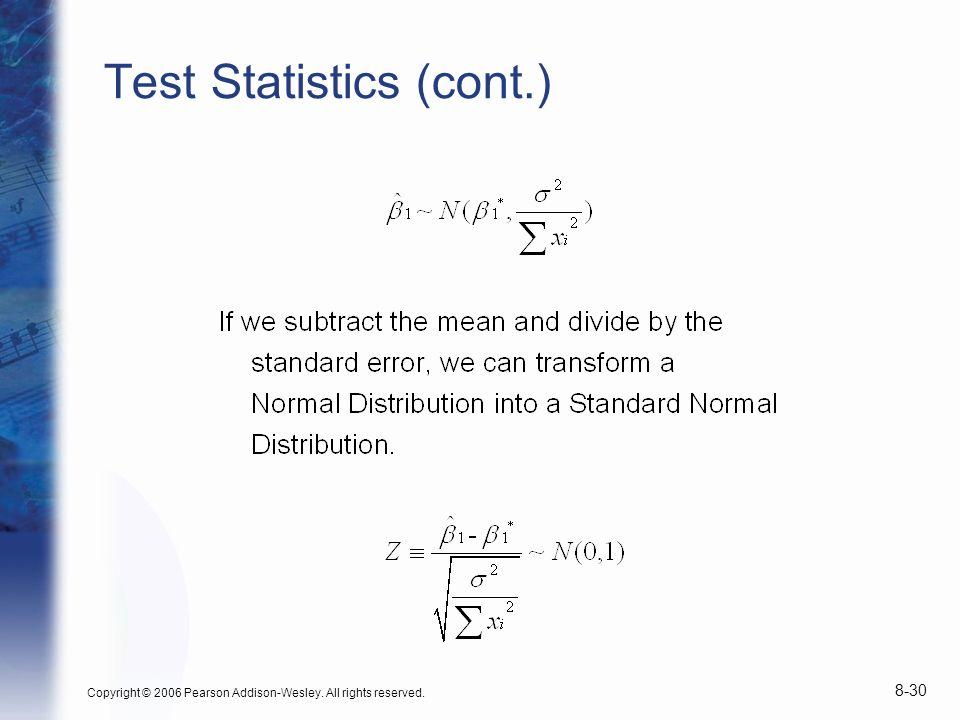 Test Statistics (cont.)