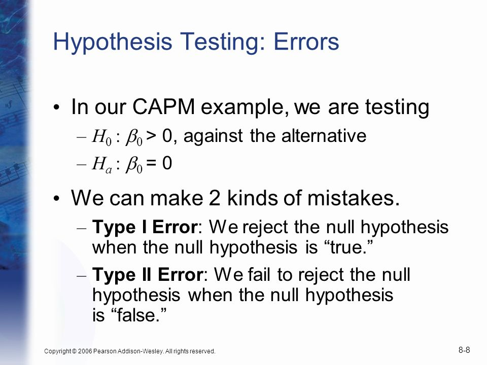 Hypothesis Testing: Errors