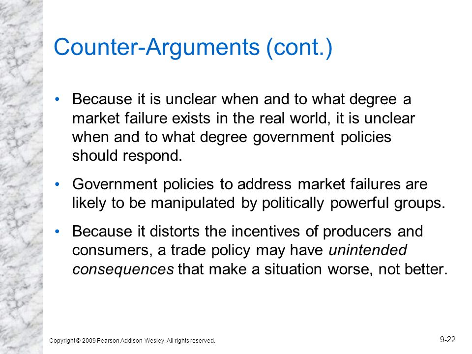 Counter-Arguments (cont.)