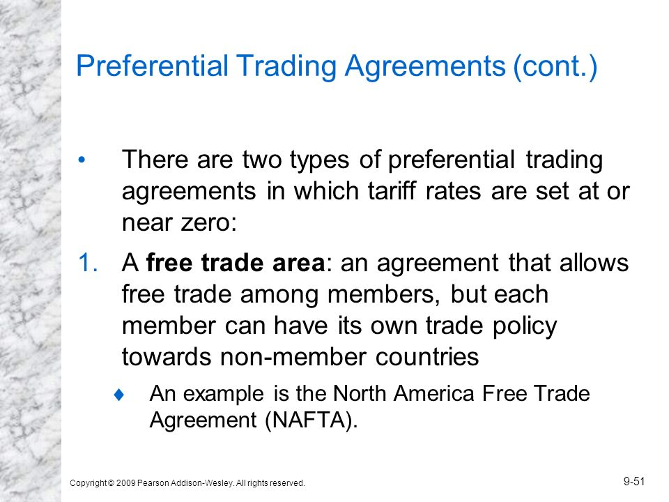 Preferential Trading Agreements (cont.)